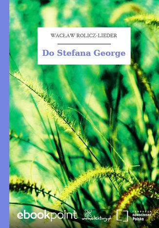 Okładka książki Do Stefana George
