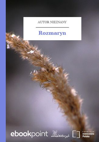 Okładka książki/ebooka Rozmaryn