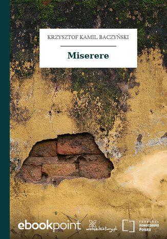 Okładka książki/ebooka Miserere