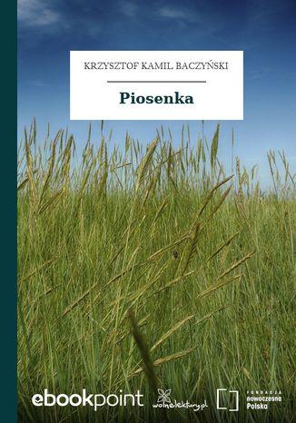 Okładka książki/ebooka Piosenka