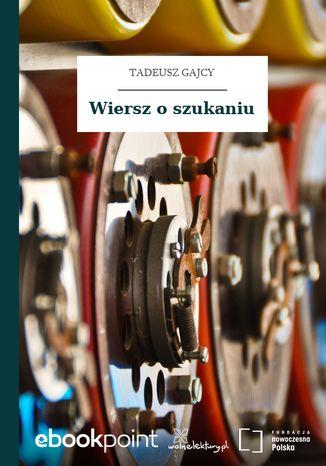 Okładka książki/ebooka Wiersz o szukaniu