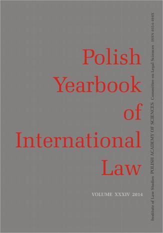 Okładka książki/ebooka 2014 Polish Yearbook of International Law vol. XXXIV