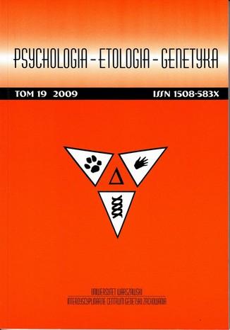 Psychologia-Etologia-Genetyka nr 19/2009