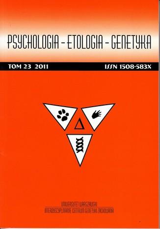 Psychologia-Etologia-Genetyka nr 23/2011