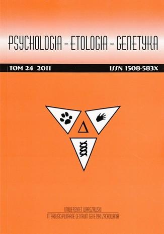 Psychologia-Etologia-Genetyka nr 24/2011