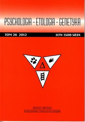 Psychologia-Etologia-Genetyka nr 26/2012