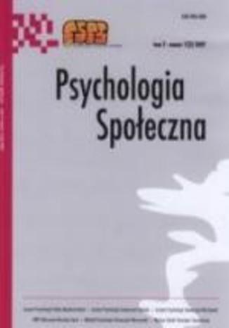 Okładka książki Psychologia Społeczna nr 1(1)/2006