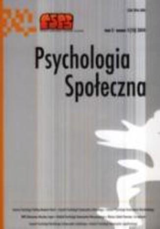 Psychologia Społeczna nr 1(13)/2010