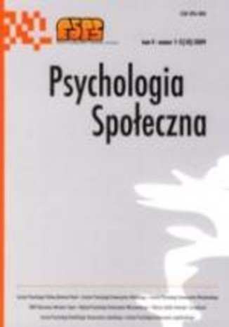 Psychologia Społeczna nr 1-2(10)/2009