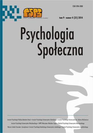 Okładka książki Psychologia Społeczna nr 4(31)/2014