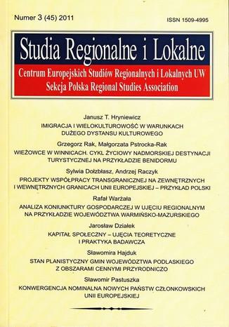 Okładka książki Studia Regionalne i Lokalne nr 3(45)/2011