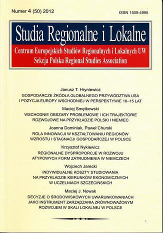Studia Regionalne i Lokalne nr 4(50)/2012