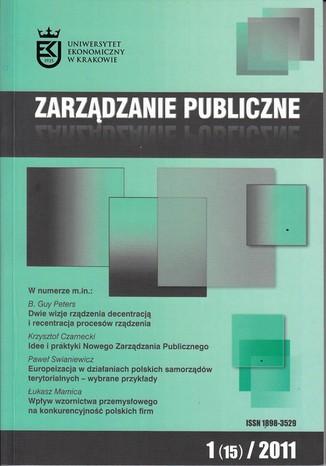 Okładka książki Zarządzanie Publiczne nr 1(15)/2011