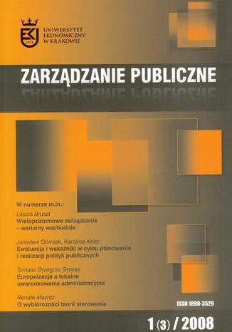 Okładka książki Zarządzanie Publiczne nr 1(3)/2008