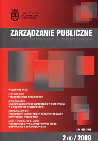 Okładka książki Zarządzanie Publiczne nr 2(8)/2009
