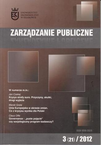 Okładka książki Zarządzanie Publiczne nr 3(21)/2012