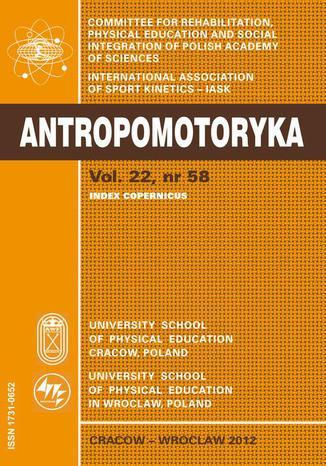 ANTROPOMOTORYKA NR 58-2012