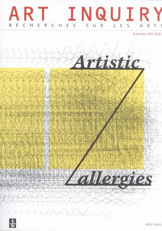 Art Inquiry. Recherches sur les arts t. XII (XXI)