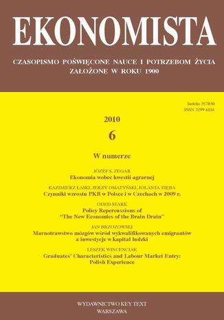 Okładka książki/ebooka Ekonomista 2010 nr 6