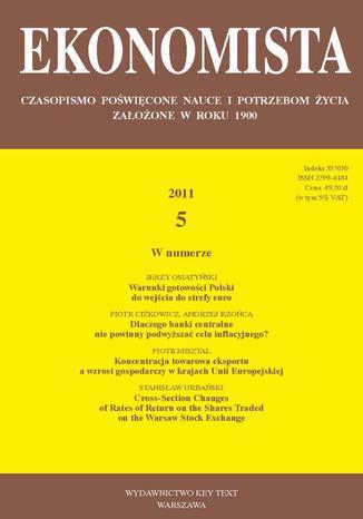 Okładka książki Ekonomista 2011 nr 5
