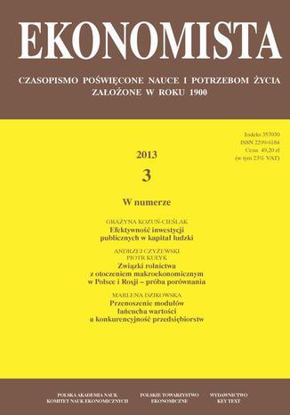 Ekonomista 2013 nr 3