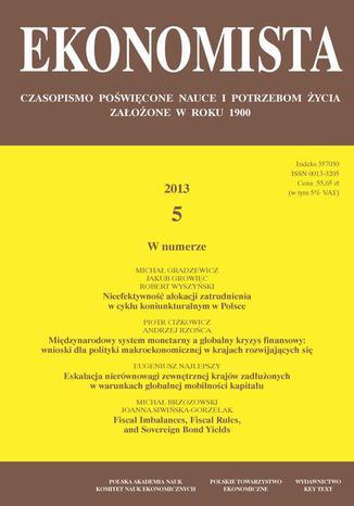 Okładka książki/ebooka Ekonomista 2013 nr 5