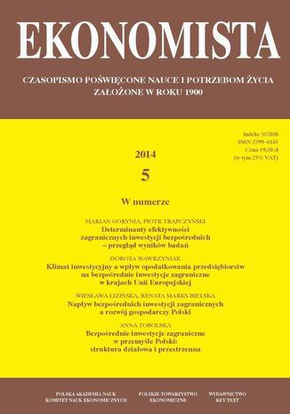 Okładka książki/ebooka Ekonomista 2014 nr 5