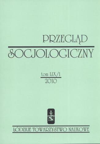 Przegląd Socjologiczny t. 59 z. 1/2010