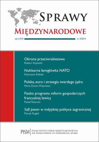 Okładka książki Sprawy Międzynarodowe 3/2014
