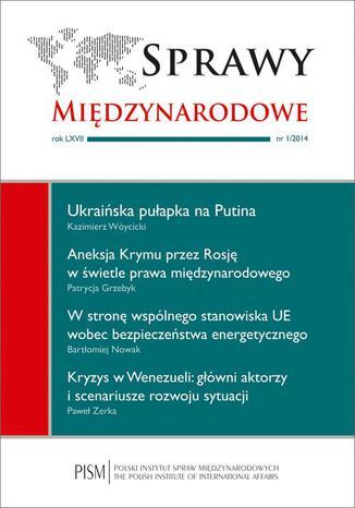Okładka książki Sprawy Międzynarodowe nr 1/2014