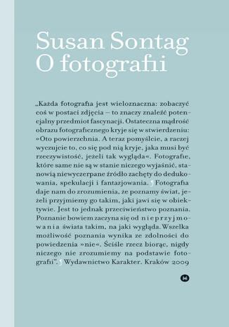 Okładka książki O fotografii