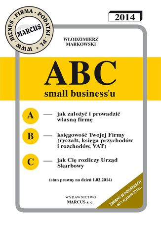 Okładka książki/ebooka ABC small business'u 2014