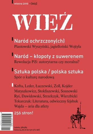 Okładka książki Więź 1/2016