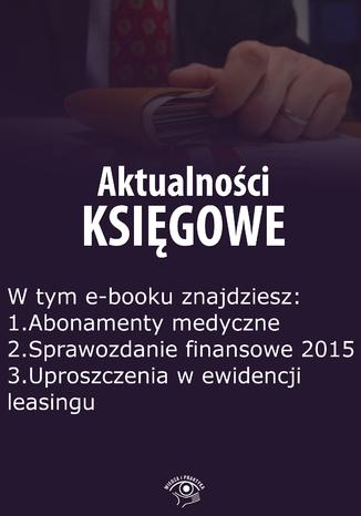 Aktualności księgowe, wydanie styczeń 2016 r