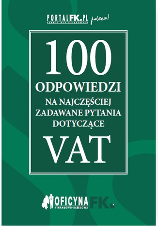 Okładka książki/ebooka 100 odpowiedzi na najczęściej zadawane pytania dotyczące VAT - stan prawny na 2016r