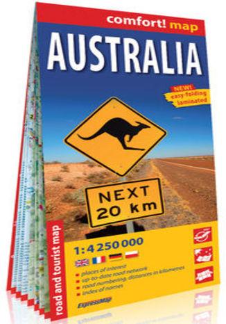 Okładka książki/ebooka Australia laminowana mapa samochodowo-turystyczna 1:4 250 000