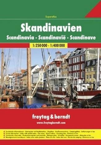 Okładka książki/ebooka Skandynawia. Atlas Freytag & Berndt 1:250 000-1:400 000