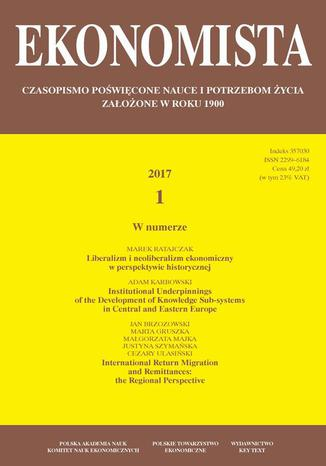 Okładka książki/ebooka Ekonomista 2017 nr 1