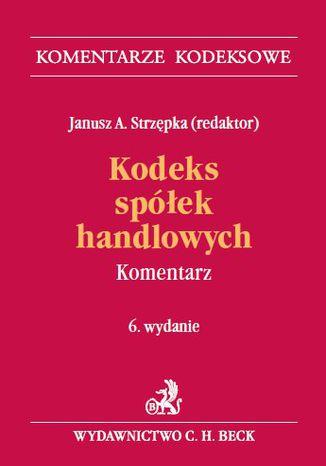 Okładka książki/ebooka Kodeks spółek handlowych. Komentarz