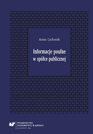 Okładka książki/ebooka Informacje poufne w spółce publicznej