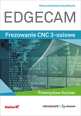 Okładka książki/ebooka Edgecam. Frezowanie CNC 3-osiowe