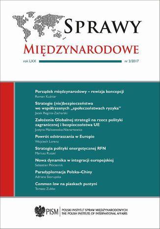 Okładka książki/ebooka Sprawy Międzynarodowe 2/2017