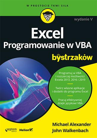 Okładka książki/ebooka Excel. Programowanie w VBA dla bystrzaków. Wydanie V