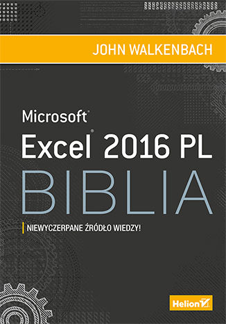 Okładka książki Excel 2016 PL. Biblia