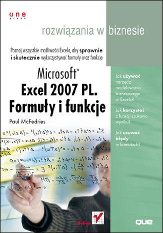 Okładka książki/ebooka Microsoft Excel 2007 PL. Formuły i funkcje. Rozwiązania w biznesie
