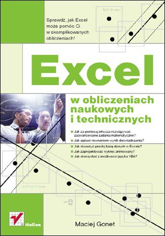 Okładka książki/ebooka Excel w obliczeniach naukowych i technicznych