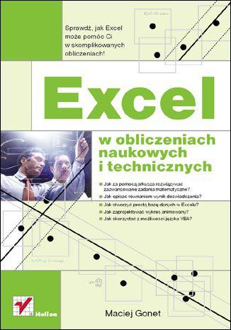 Okładka książki Excel w obliczeniach naukowych i technicznych