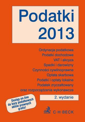 Okładka książki/ebooka Podatki 2013