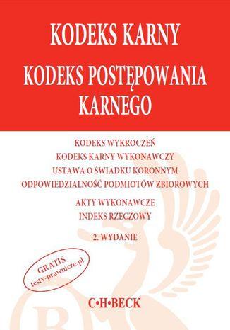 Okładka książki/ebooka Kodeks karny Kodeks postępowania karnego
