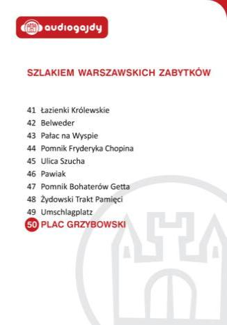 Okładka książki/ebooka Plac Grzybowski. Szlakiem warszawskich zabytków